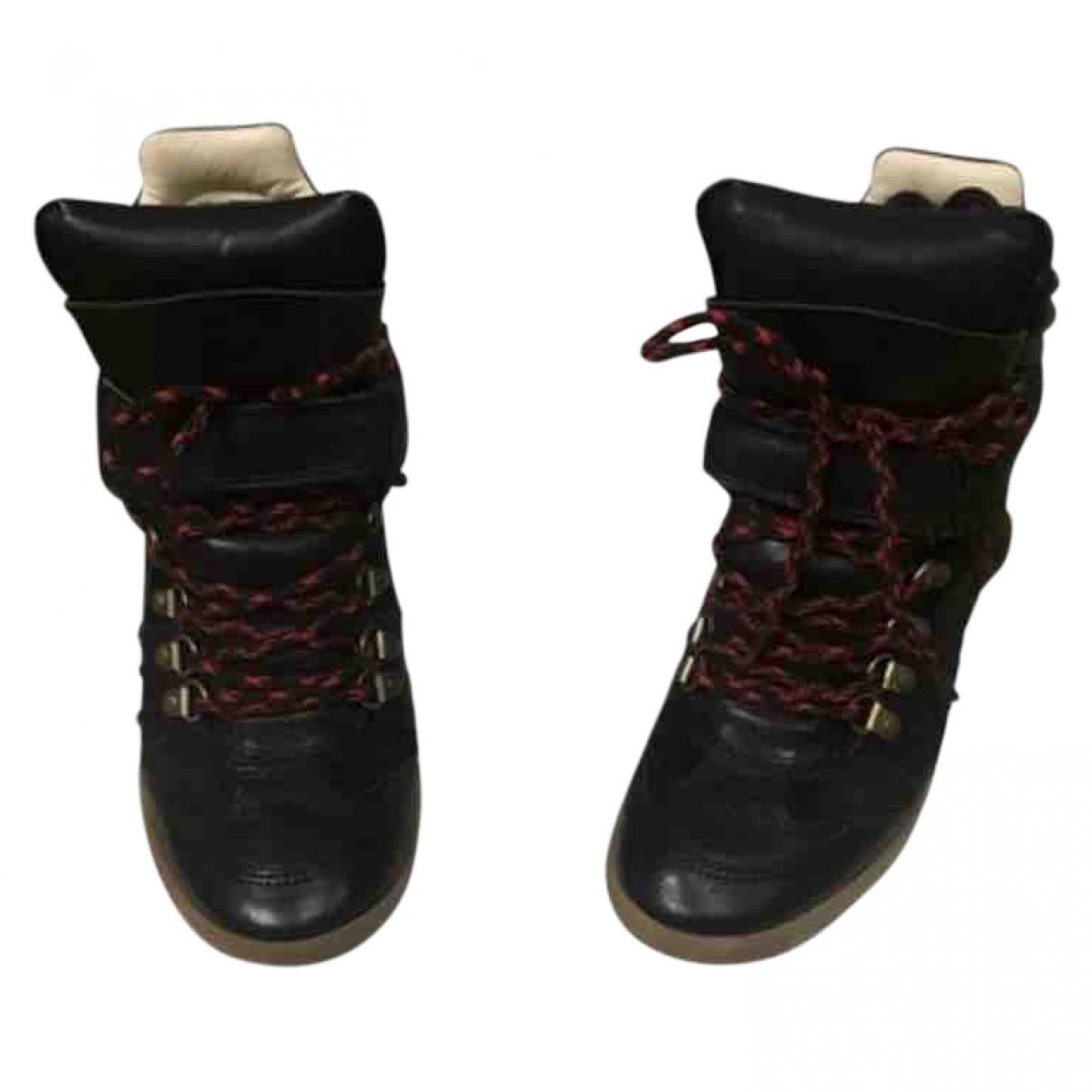 Isabel Marant \N Sneakers in  Schwarz Leder