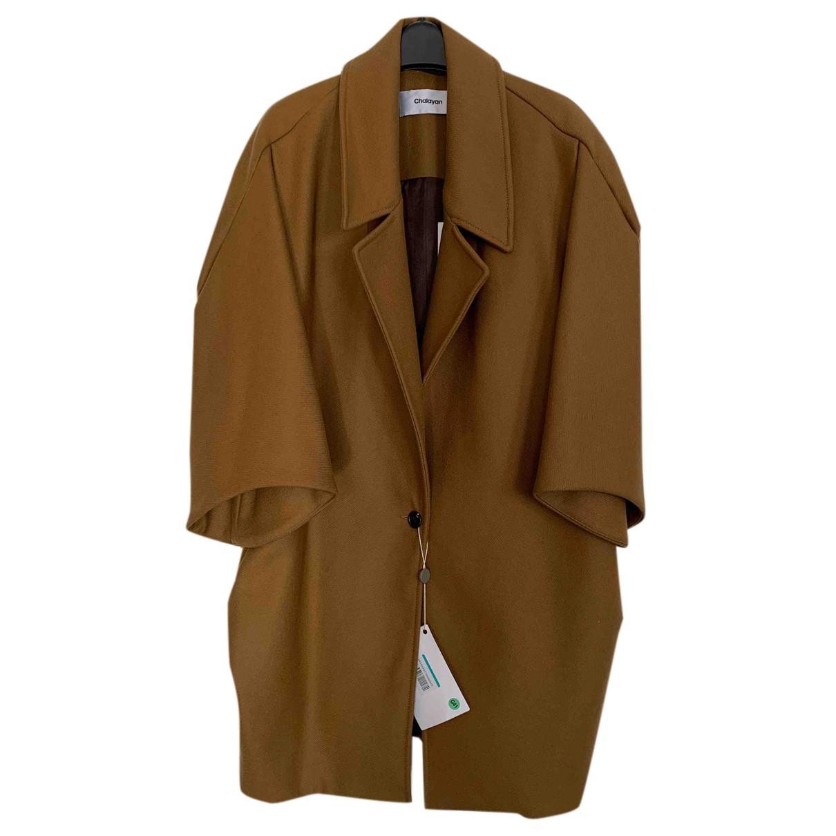 Chalayan - Manteau   pour femme en laine - camel