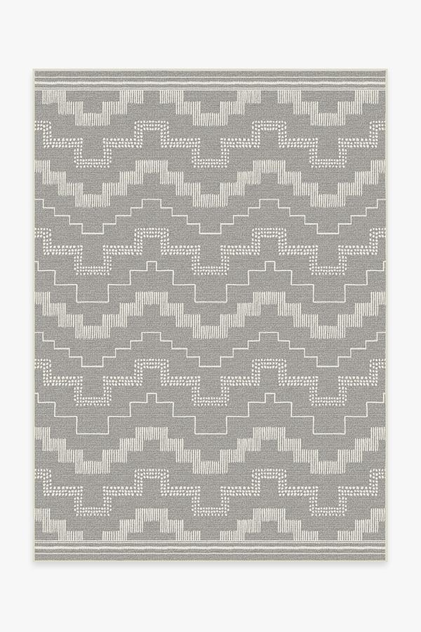 Washable Rug Cover | Outdoor Meseta Grey Rug | Stain-Resistant | Ruggable | 5'x7'