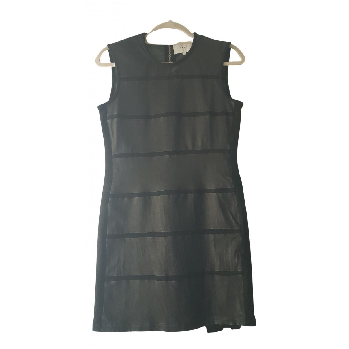 Iro - Robe   pour femme en cuir - noir