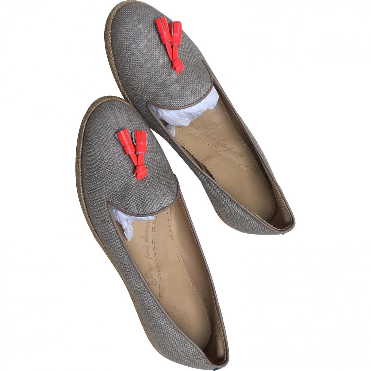 Chatelles - Mocassins   pour femme en toile - gris