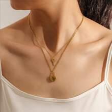 Lock & Key Charm Layered Necklace