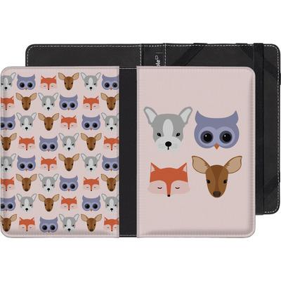 Sony Reader PRS-T3 eBook Reader Huelle - Animal Friends on Pink von caseable Designs