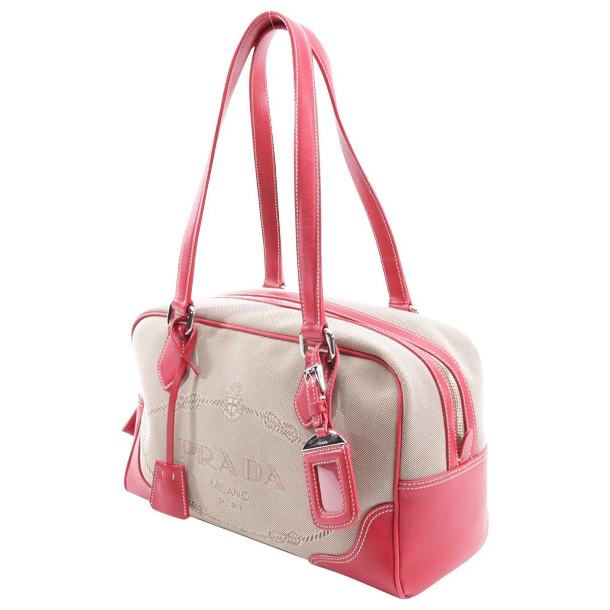 Prada \N Handtasche in  Beige Leinen