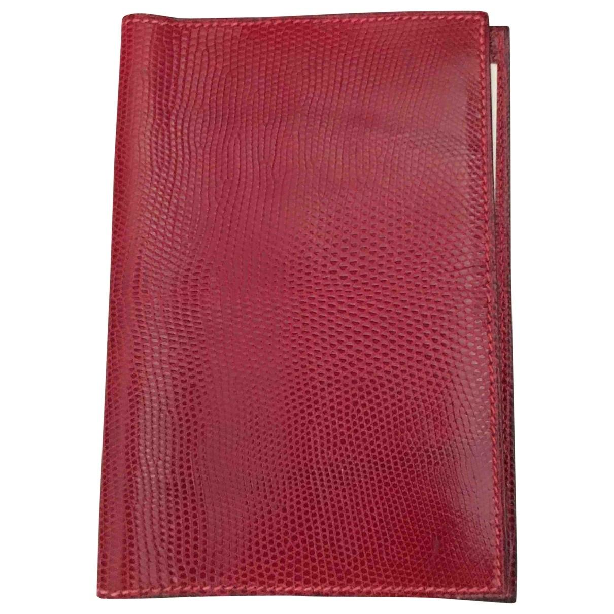 Hermes \N Accessoires und Dekoration in  Rot Echse