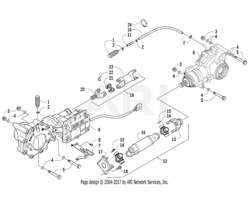 Arctic Cat OEM 1502-342 Driveshaft Front Assembly | (Inc. 20 23) Requires End Yoke 1502 325.