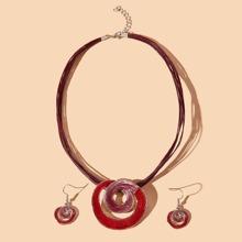 3pcs Glitter Circle Rope Jewelry Set
