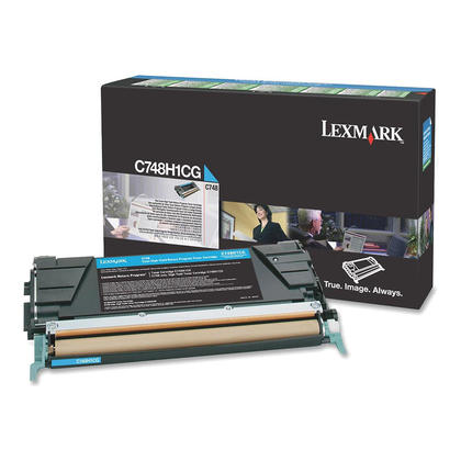 Lexmark C748H1CG Original Cyan Return Program Toner Cartridge High Yield