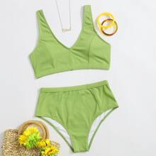 Bañador bikini de cintura alta de canale