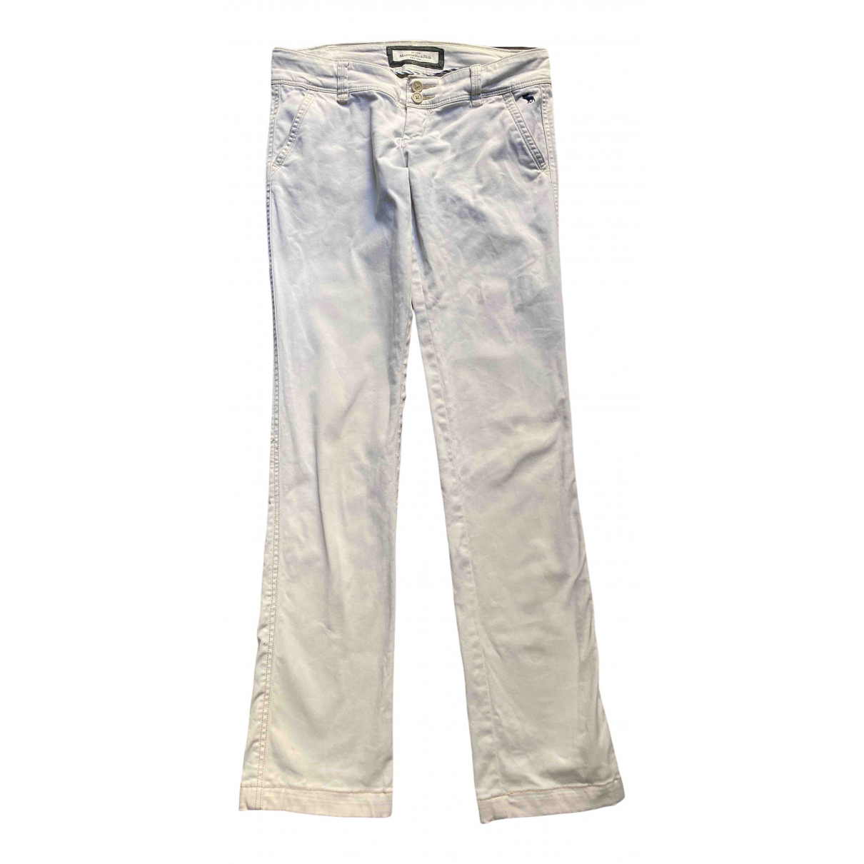 Abercrombie & Fitch - Pantalon   pour femme en coton - beige
