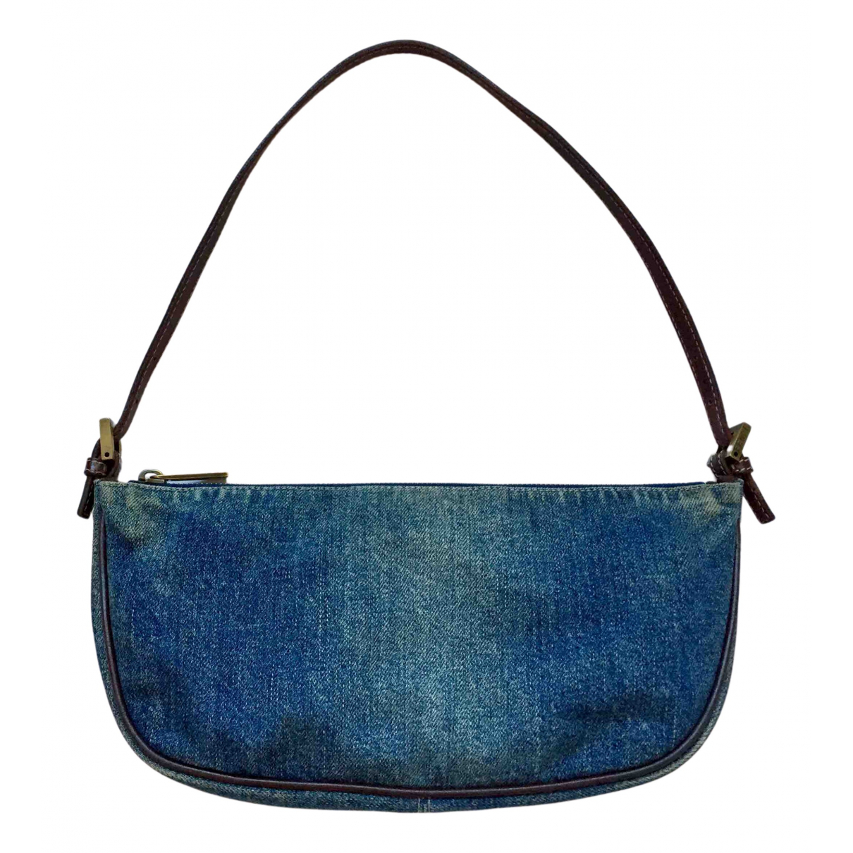 Fendi \N Clutch in  Blau Denim - Jeans