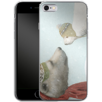 Apple iPhone 6 Silikon Handyhuelle - First Winter von Eric Fan