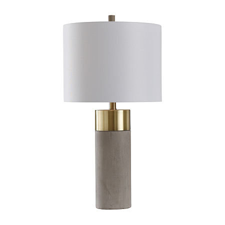 Stylecraft 14 W Brass & Natural Metal Table Lamp, One Size , Yellow