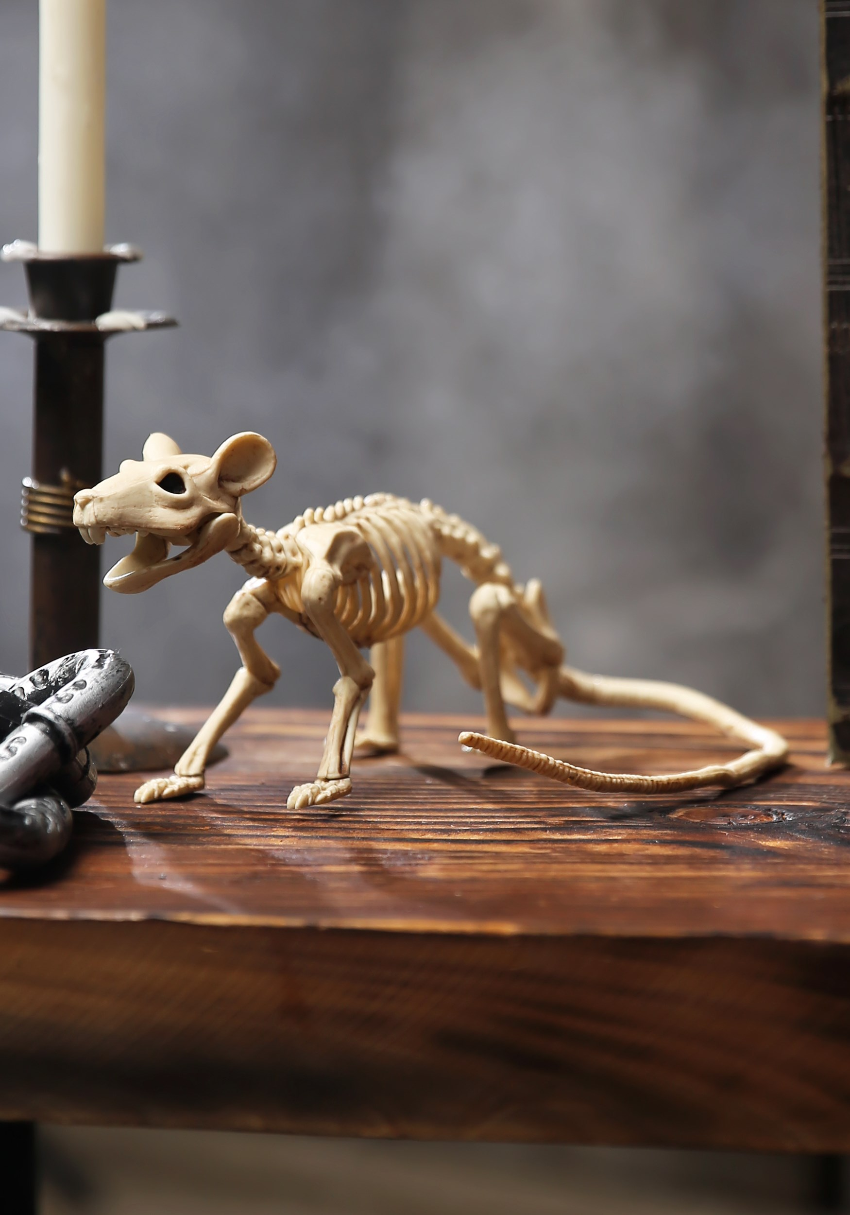 Mini Rat Skeleton Halloween Decoration