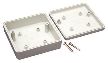 Hammond 1593 Grey ABS Project Box, 66 x 66 x 28mm
