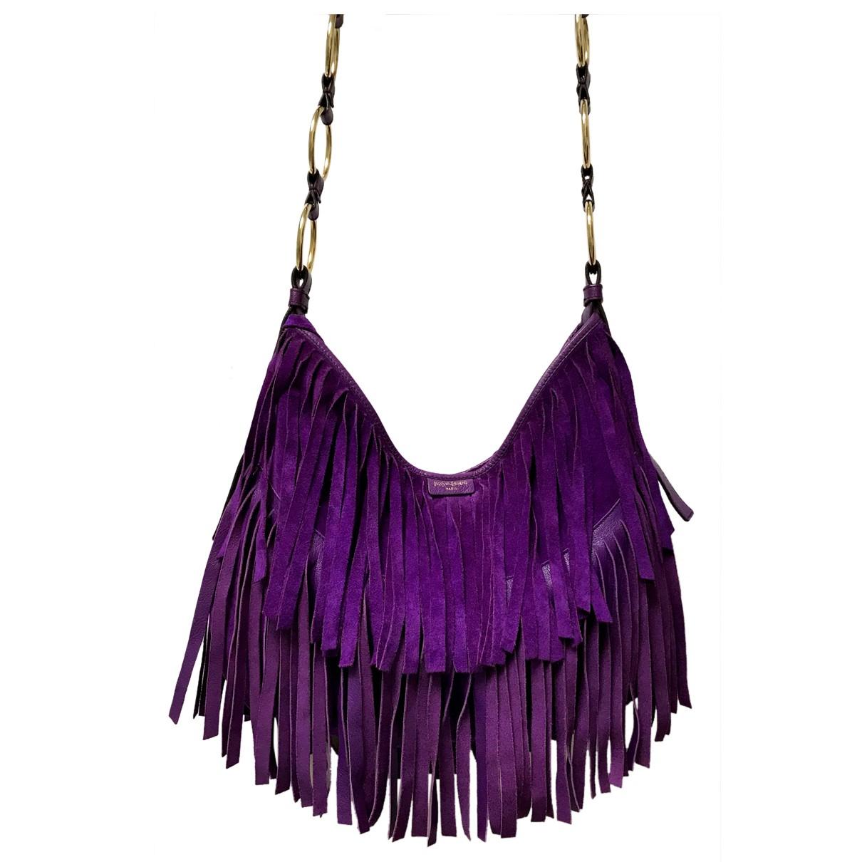Yves Saint Laurent N Purple Suede handbag for Women N