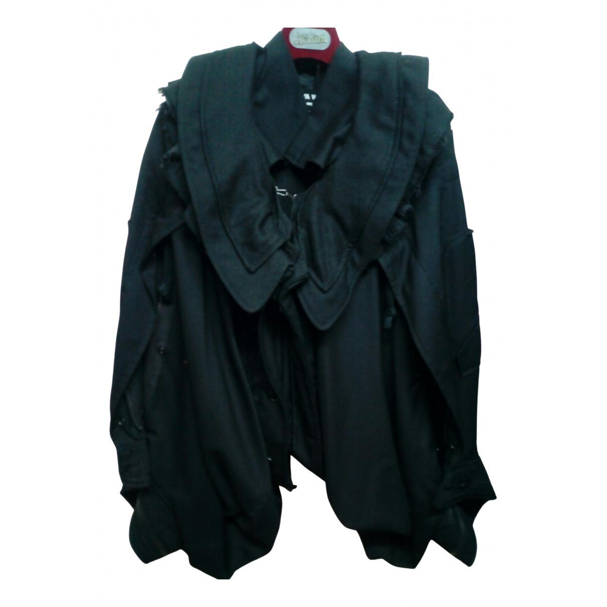 Junya Watanabe - Blouson   pour femme en laine - noir