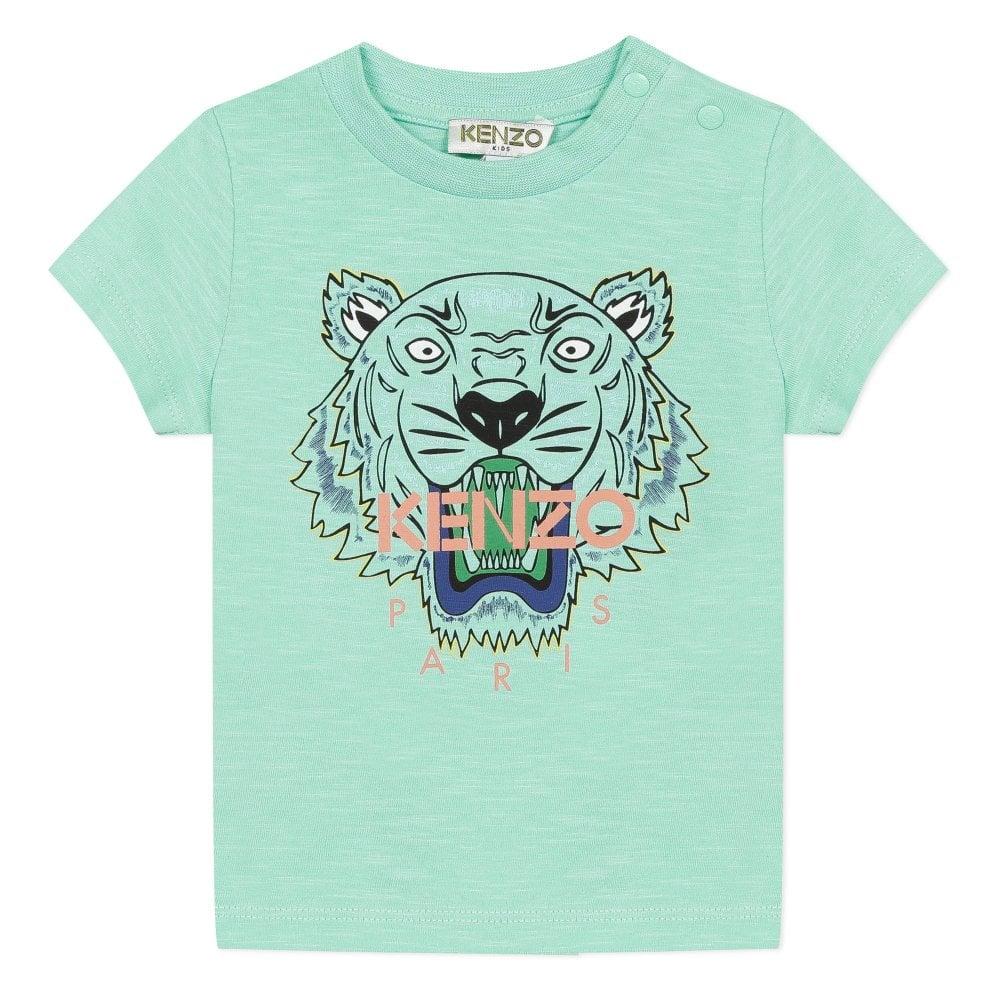 Kenzo Kids Tiger Logo Baby T-Shirt Size: 1 YEARS, Colour: GREEN