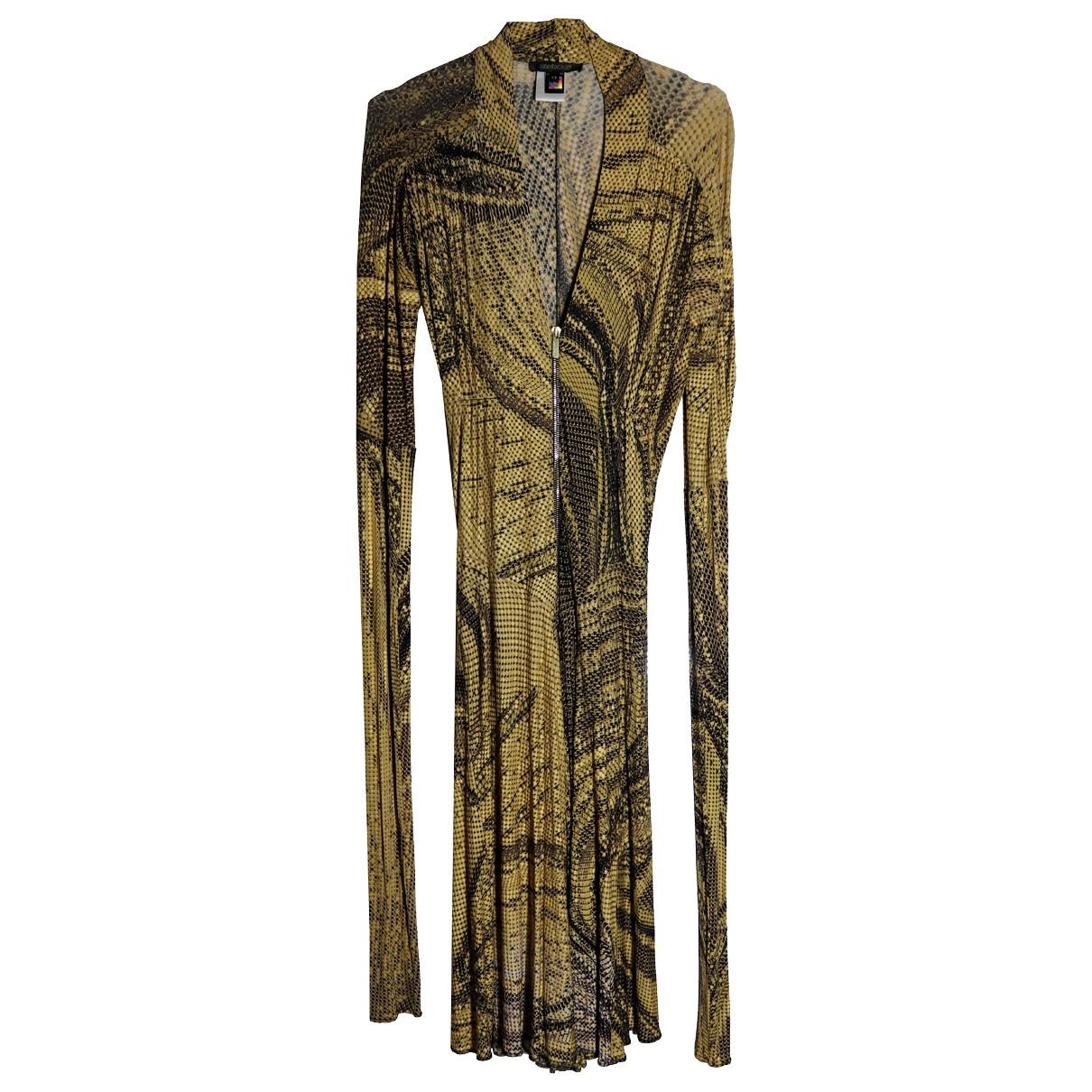 Roberto Cavalli \N Kleid in  Gelb Viskose