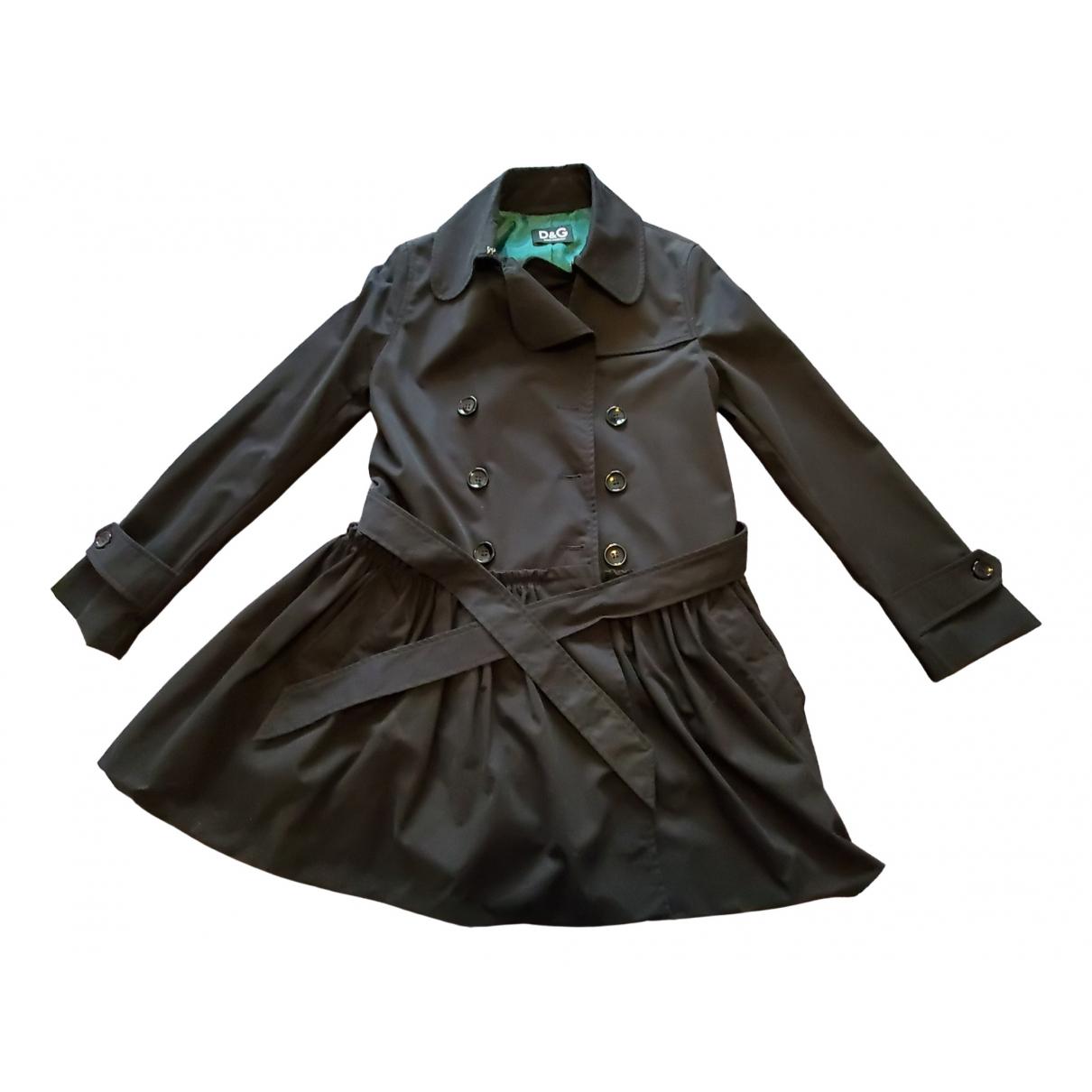 D&g \N Black Cotton coat for Women 42 IT