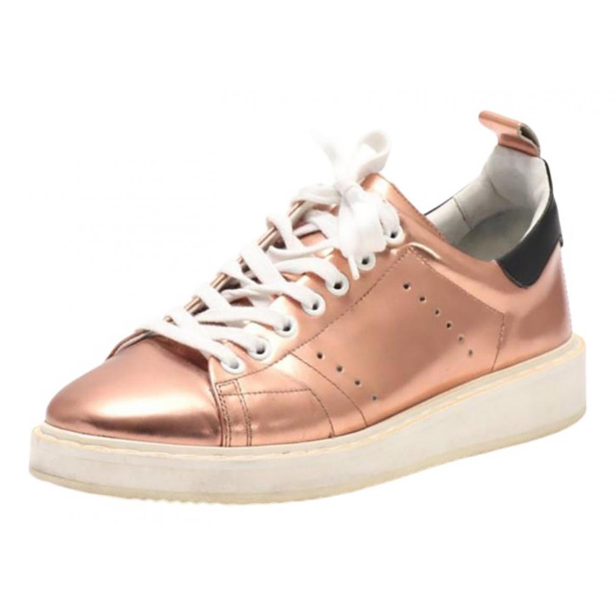 Golden Goose Starter Sneakers in  Metallic Lackleder