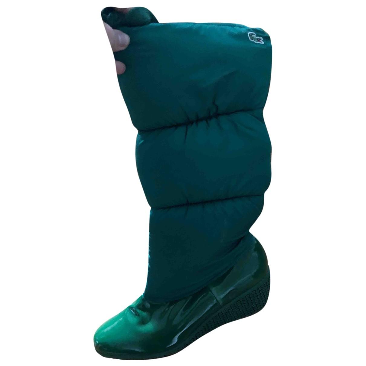 Lacoste \N Stiefel in  Gruen Kunststoff