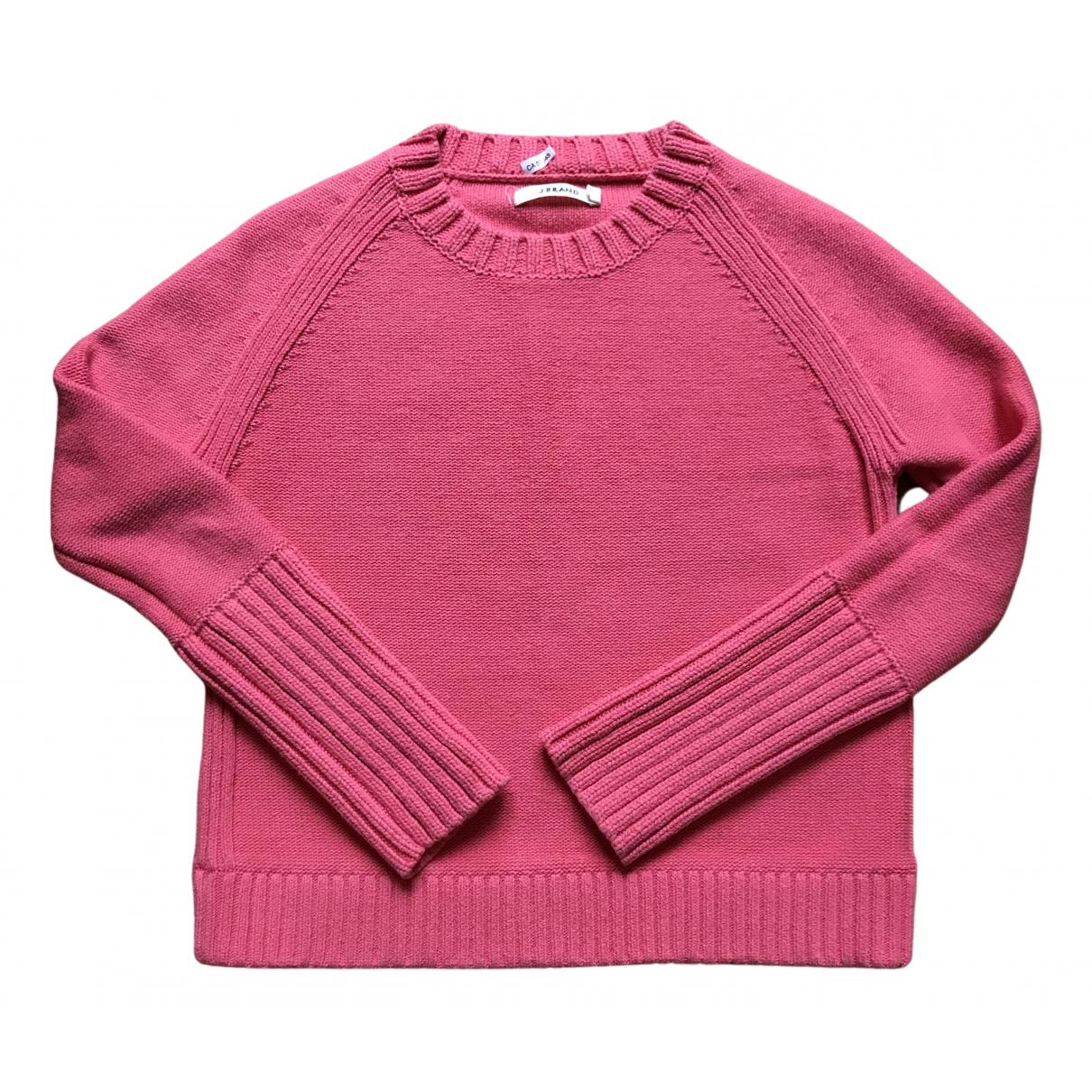 J Brand - Pull   pour femme en coton - rose