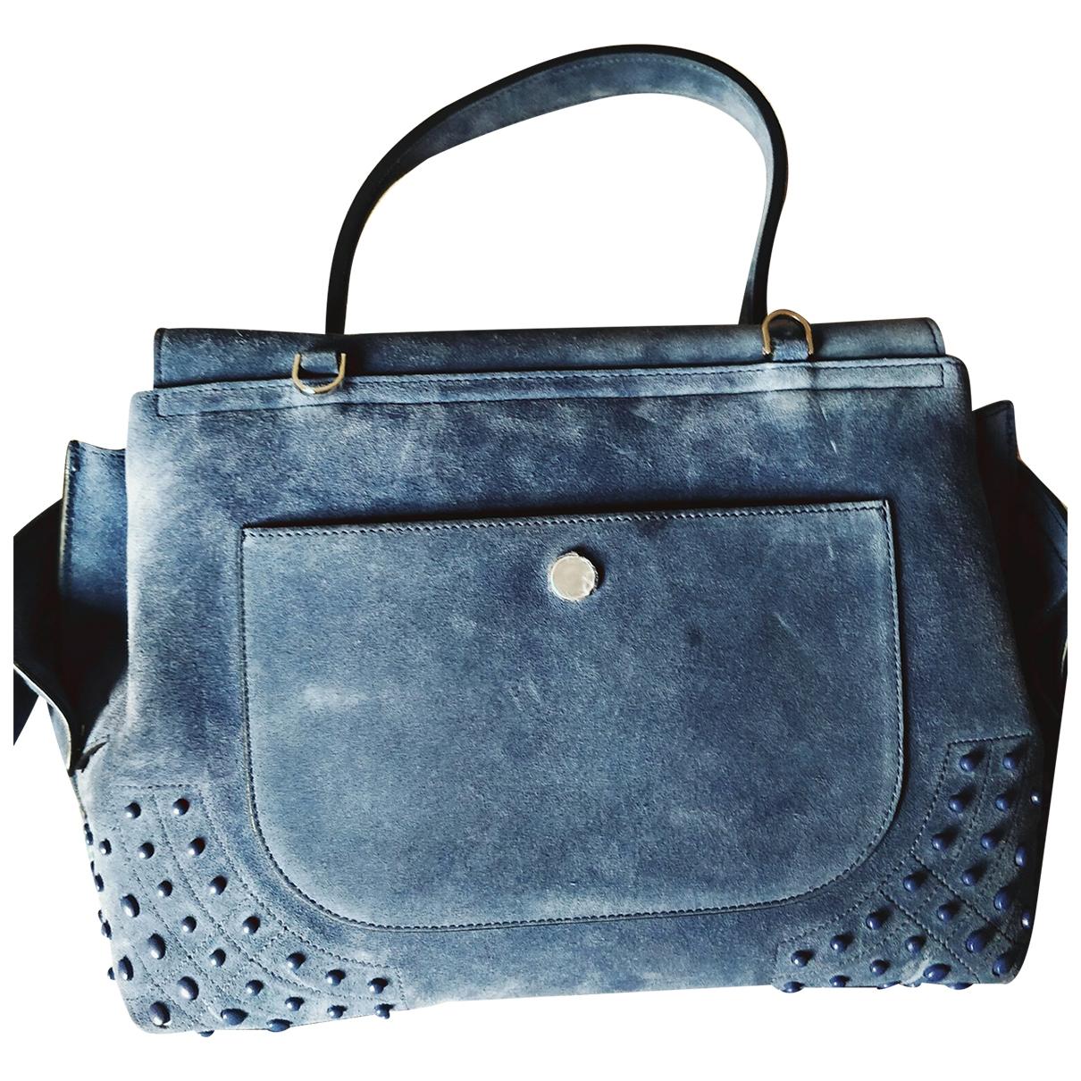 Tod's Wave Blue Suede handbag for Women \N