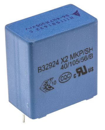 EPCOS 4.7μF Polypropylene Capacitor PP 305V ac ±20% Tolerance Through Hole B32924C Series