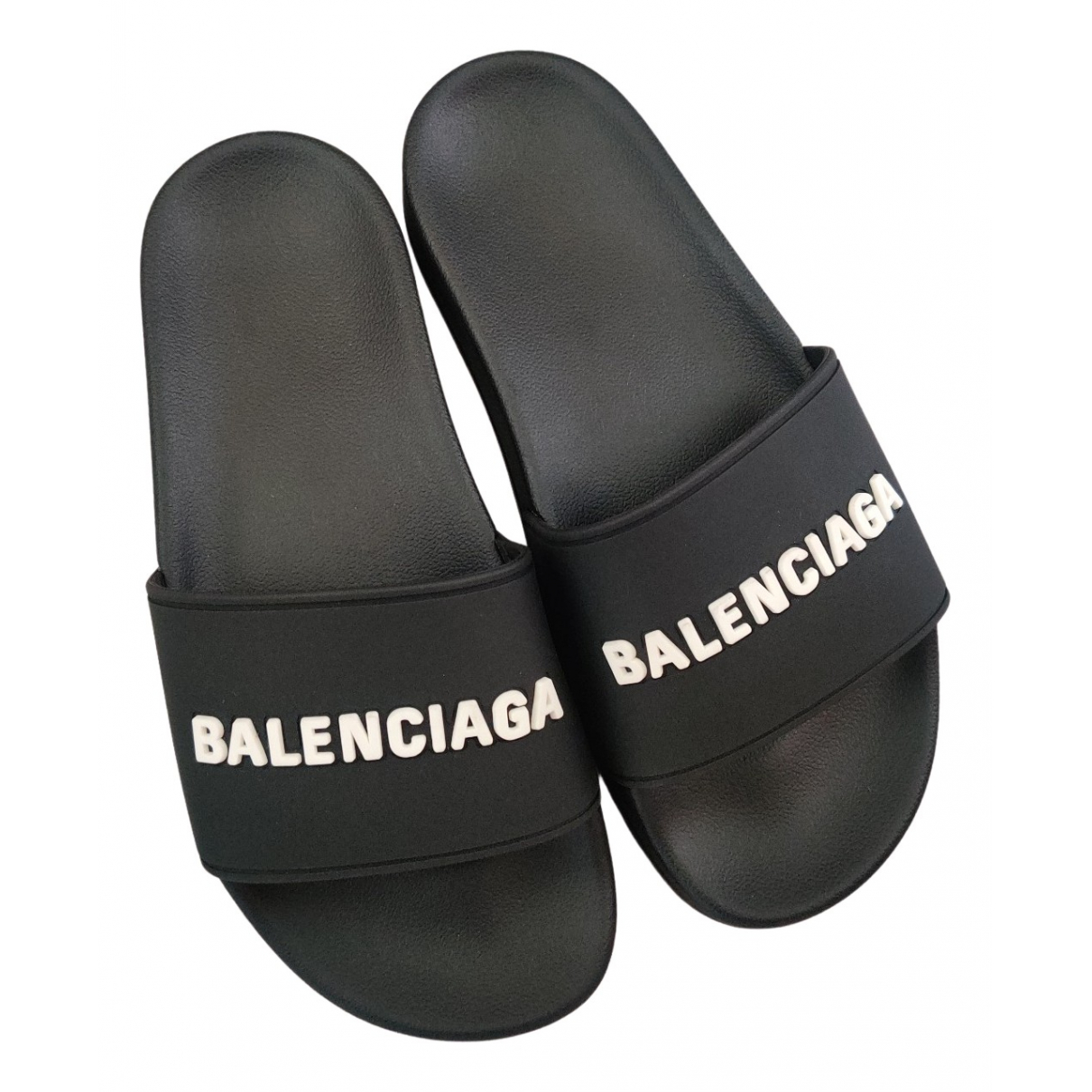 Balenciaga N Black Rubber Sandals for Women 36 EU