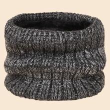 Men Braided Knit Ring Scarf