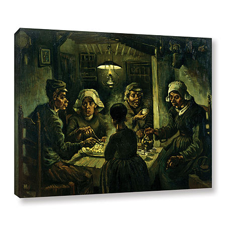 Brushstone The Potato Eaters Gallery Wrapped Canvas Wall Art, One Size , Brown