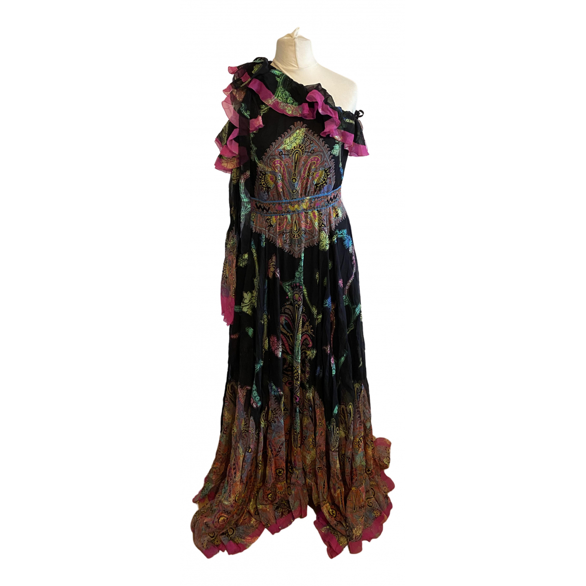 Etro \N Multicolour Silk dress for Women 40 IT