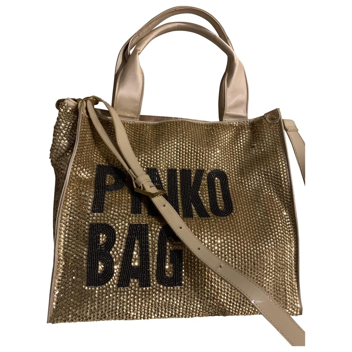 Pinko \N Handtasche in  Gold Mit Pailletten