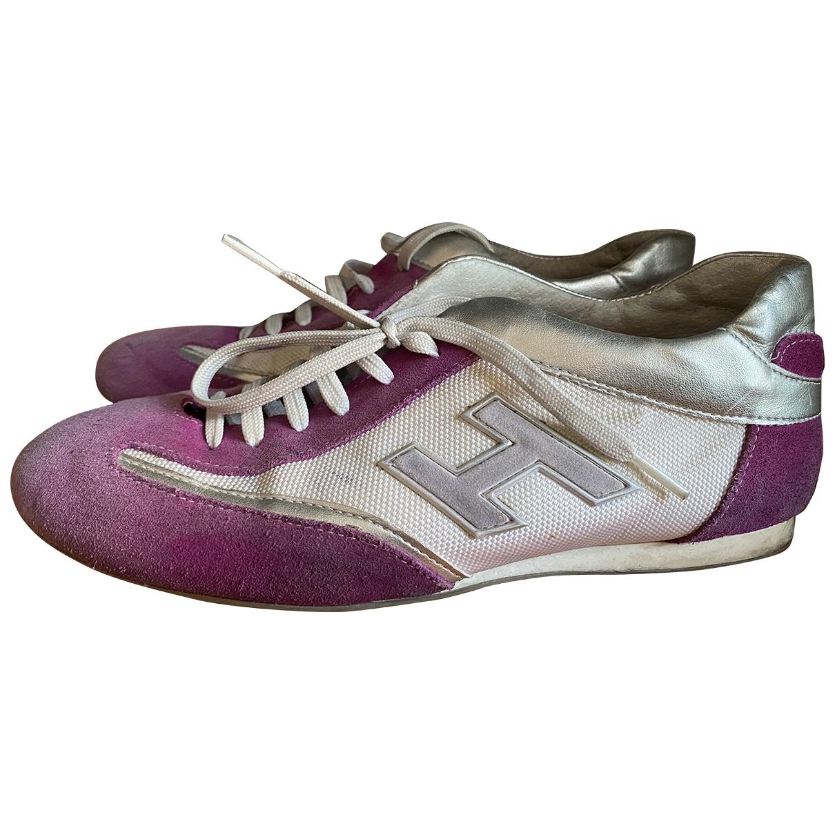 Hogan \N Purple Suede Trainers for Women 40 EU