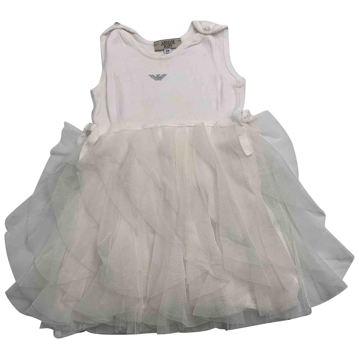 Armani Baby \N Kleid in  Weiss Viskose