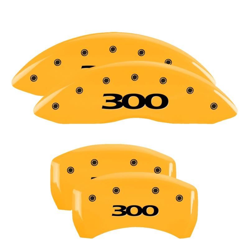 MGP Caliper Covers 32004S300YL Set of 4: Yellow finish, Black 300 / 300 (Pre-2017) Chrysler 300C 2005-2010