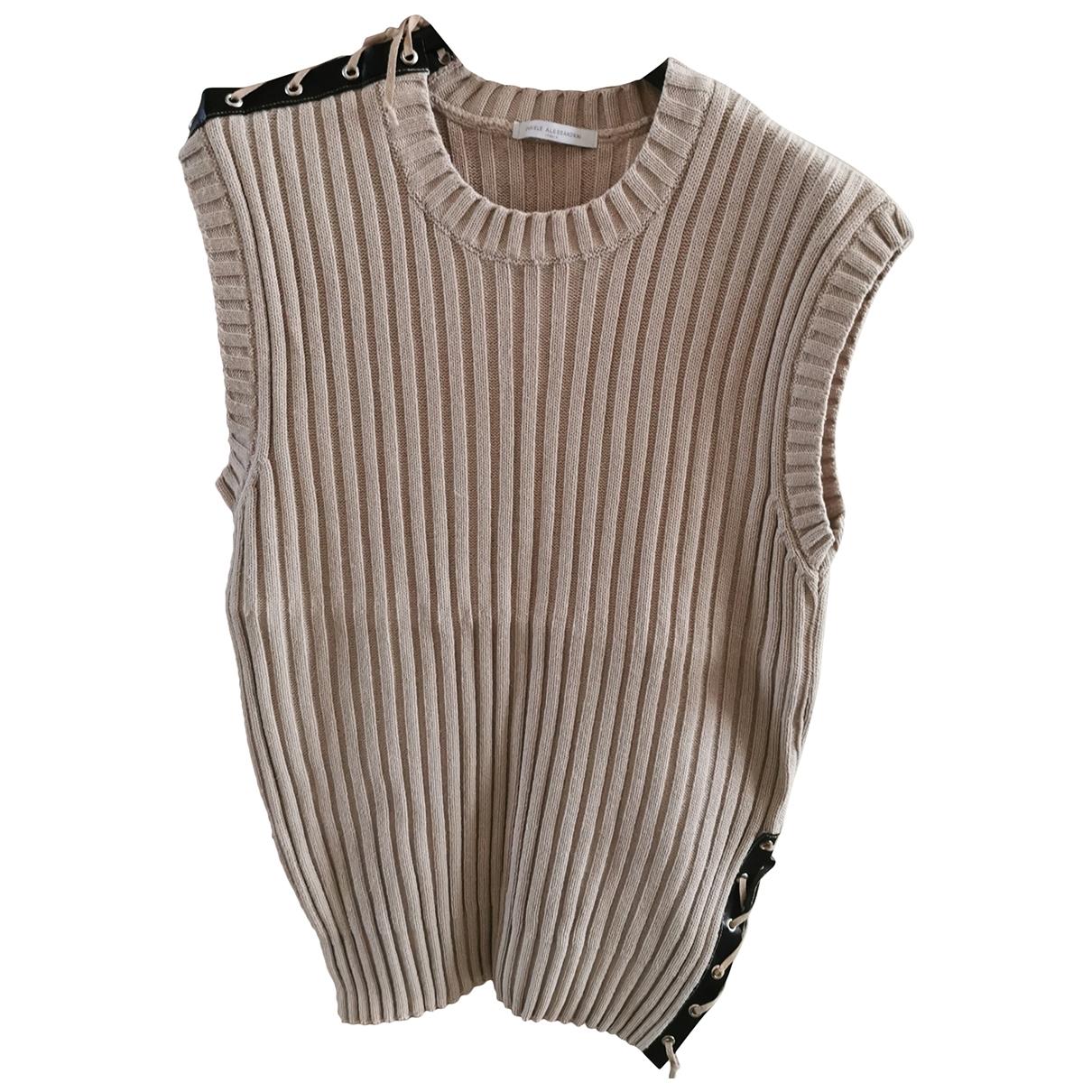Daniele Alessandrini \N Beige Cotton Knitwear & Sweatshirts for Men L International