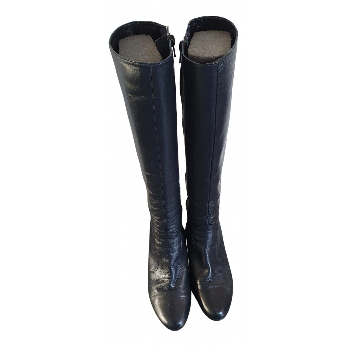 Non Signé / Unsigned \N Blue Leather Boots for Women 38 EU