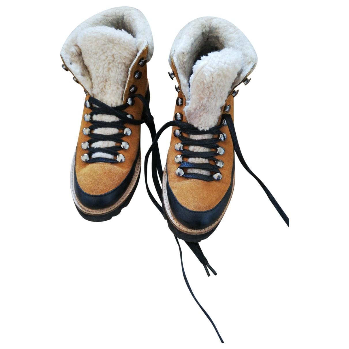 Urban Outfitters - Boots   pour femme en cuir - multicolore