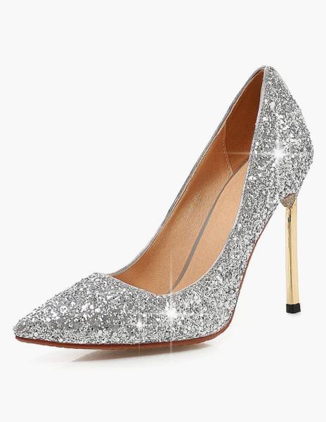 Milanoo Tacon de aguja zapatos de dedo del pie puntiagudo