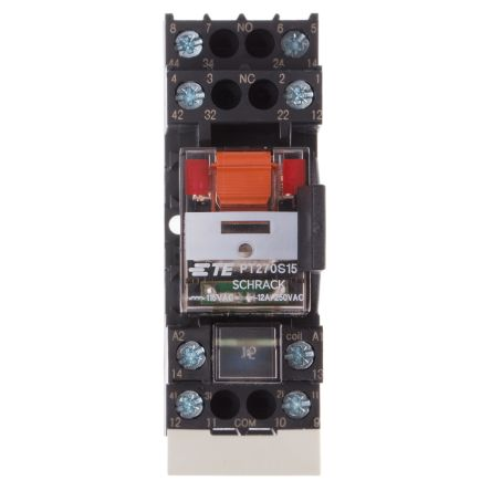 TE Connectivity , 115V ac Coil Non-Latching Relay DPDT, 12A Switching Current DIN Rail, 2 Pole