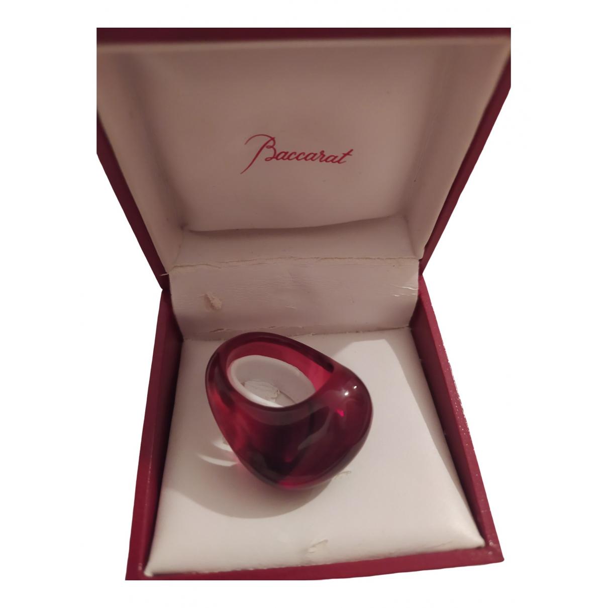 Baccarat - Bague   pour femme en cristal - rouge