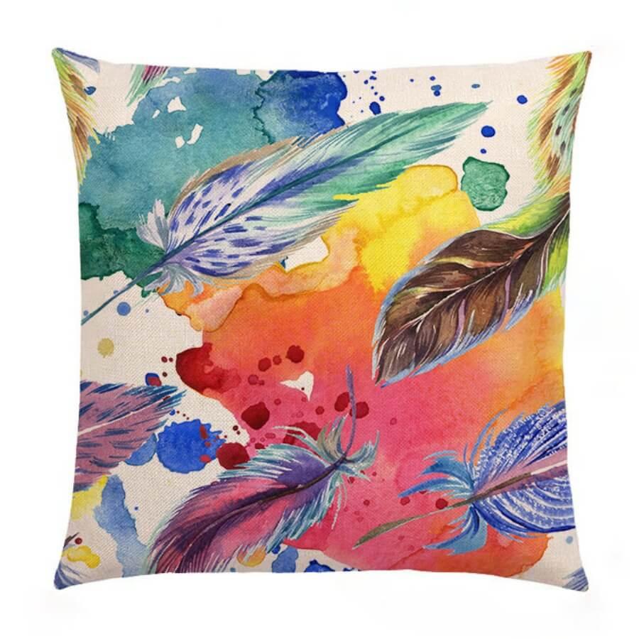 LW Lovely Trendy Print Multicolor Decorative Pillow Case