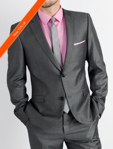 Mens Charcoal Slim Fit Suit