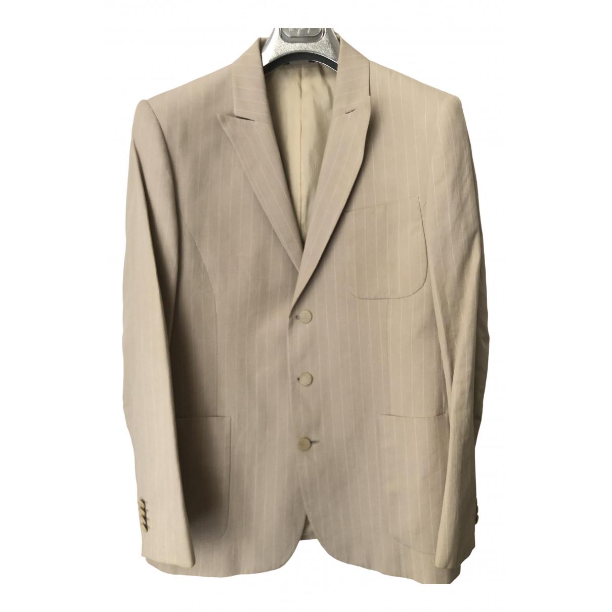 Thierry Mugler - Costumes   pour homme en lin - beige