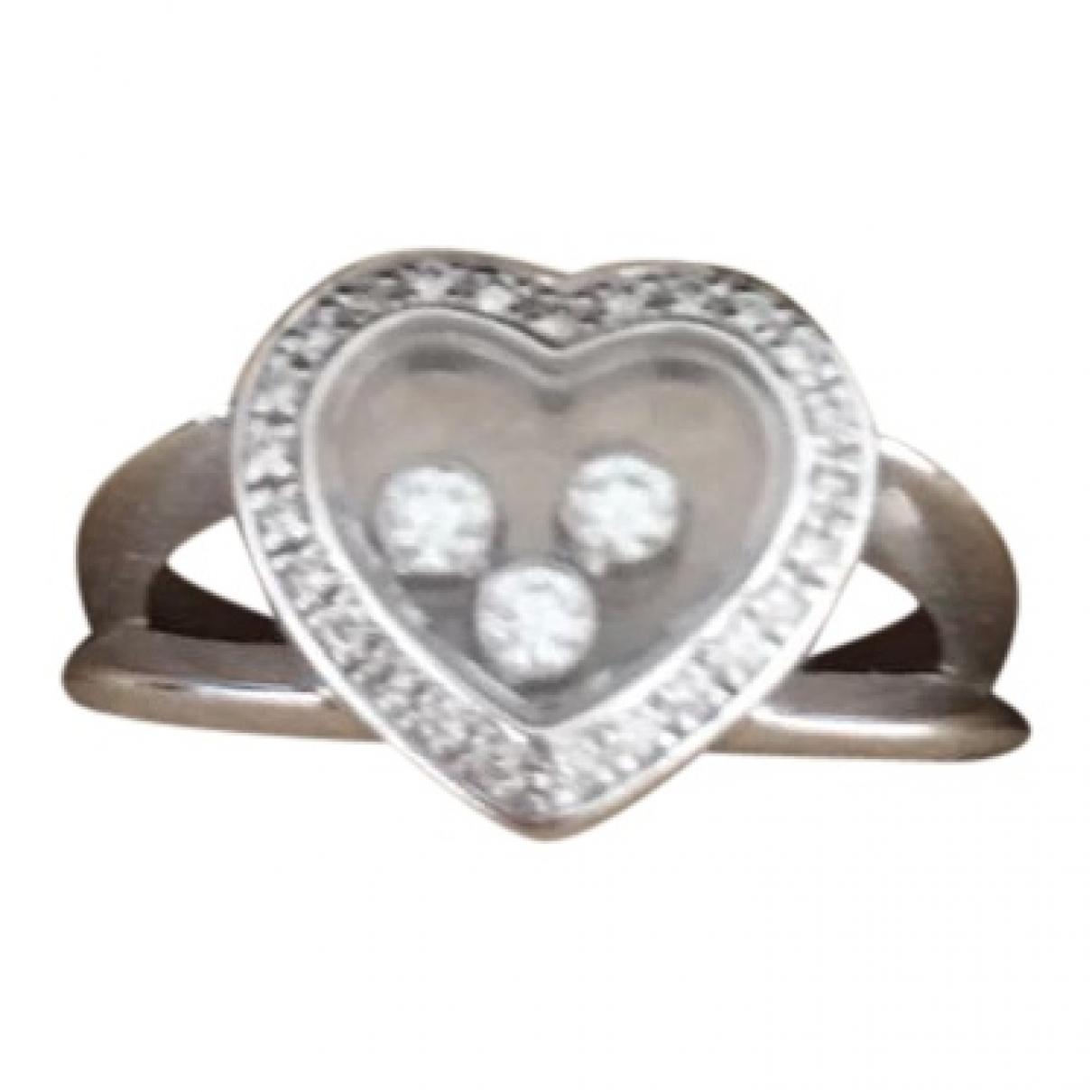 Chopard - Bague Happy Diamonds pour femme en or blanc - blanc