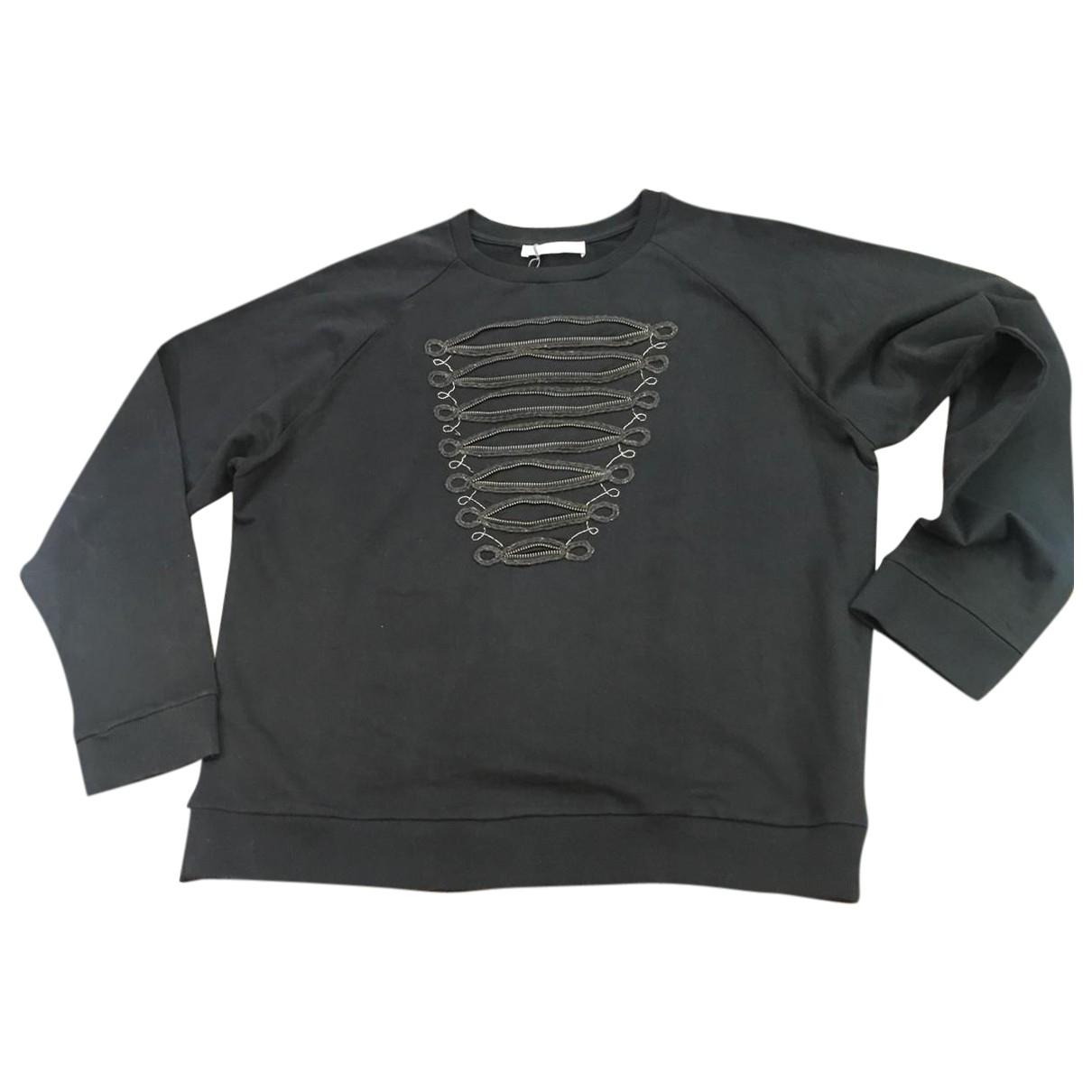 Pierre Balmain \N Black Cotton Knitwear & Sweatshirts for Men 52 FR