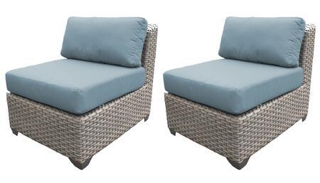 TKC055b-AS-DB-SPA Armless Chair 2 Per Box - Grey and Spa
