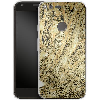 Google Pixel Silikon Handyhuelle - Marbled Sand von Amy Sia